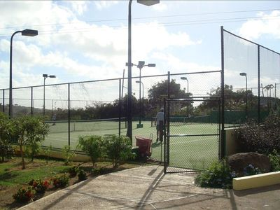 Two lighted tennis courts on site.