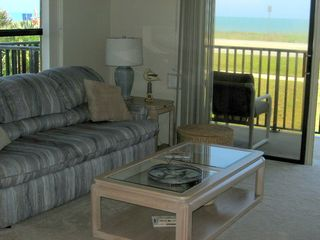 Ormond Beach condo photo - Note man at beach access upper L corner of north window...we're really close!!!