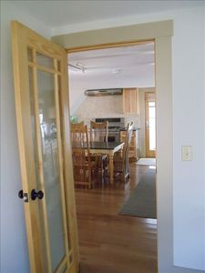 Provincetown house rental - Looking from Bedroom to open living/kitchen area