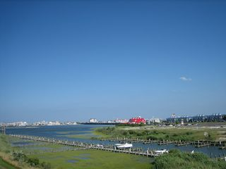 Vacation Homes in Ocean City townhome photo - Rear Deck View of Bay