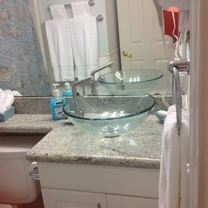 Galveston condo rental - Newly remodeled bathroom in 2013!