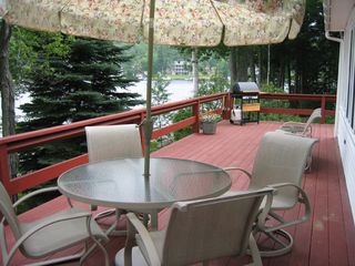 Sunapee cottage photo - Upper deck overlooking lake