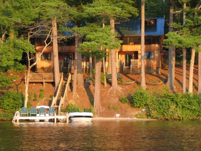 Raymond lodge rental - Maine Lakefront Lodge on Cresent Lake, Raymond Maine