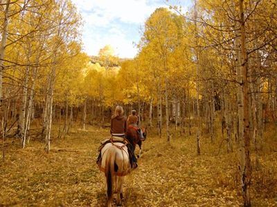 Sundance cottage rental - Horseback riding can be one of the best ways to explore the land.