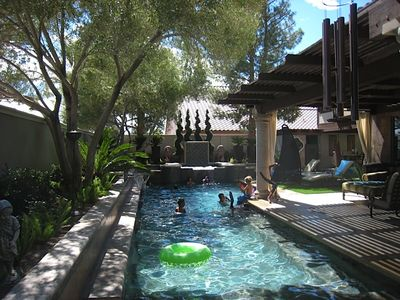 Las Vegas house rental - The best part of the day .... relaxing in the pool.
