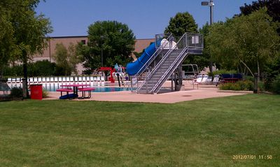 Slide for the little ones at the Neenah Pool