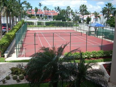 Cupecoy condo rental - Tennis Court and Gardens at The Cliff at Cupecoy Beach