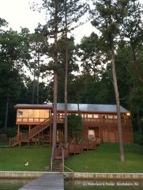 Guntersville Lake house rental - Back of Robinson's Roost, riverside