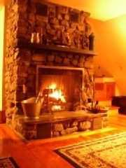 Manchester chalet photo - Fireplace Winter Glow