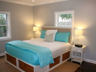 Crystal Beach house photo - New carriage suite bedroom. Hardwood floors, amazing pebble stone shower...