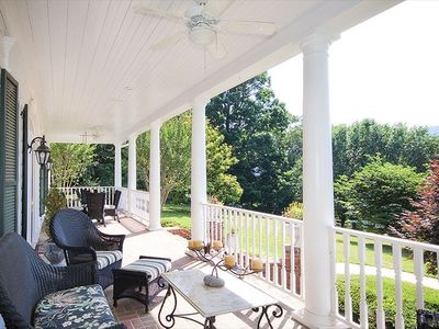 Relax on the expansive front porch