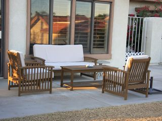 Back patio seating area - Palm Desert condo vacation rental photo