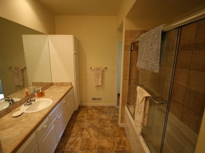 2nd floor bathroom, jacuzzi tub, washer & dryer.