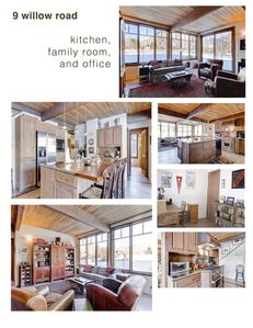 Kitchen, Family Room, and Office