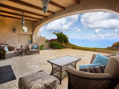 Arched patio designed to show off view and outdoor living