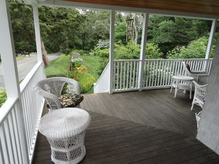 Falmouth house photo - View from covered porch.