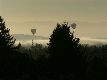 Hot Air Balloons can be seen in the summer floating over the valley floor