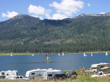 Sailing Regatta Near The South End Of Cascade Lake.