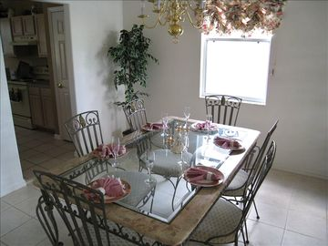 Have family and friends enjoy a nice dinner in the comfort of your house!!