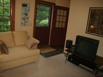 Family Room with Sleeper Sofa and Satellite TV/DVD