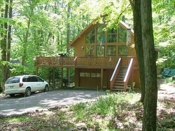 Locust Lake house rental - Enjoy the outdoors on the second floor deck!
