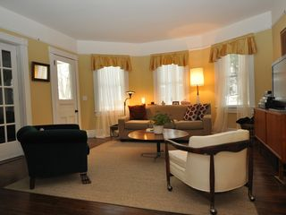 Lenox house photo - Bright living room with large screen TV