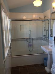 Provincetown condo photo - New En Suite Master Bath with Deep Soaking Tub & Miele Washer/Dryer.