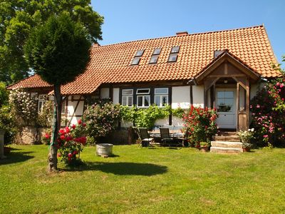 In the Südharz a stylish half-timbered house in the middle of the natural park to feel good