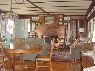 Chatham house photo - Large living room-dining room on the Bay side