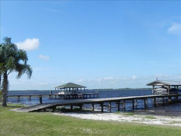 Lake Wales house rental - Our boat dock on Tiger