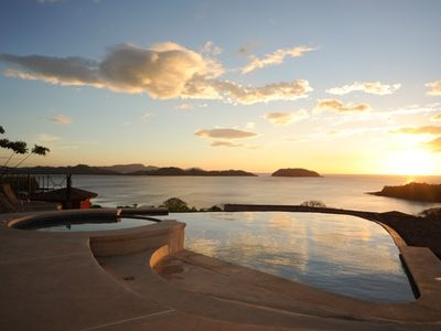 Beautiful ocean views from the infinity pool area.