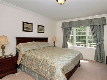 Master Bedroom Features King-Size Bed