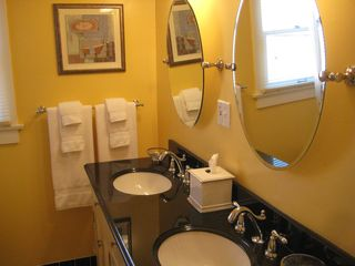Long Beach apartment photo - Double sink vanity with granite top