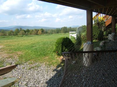 Jay Peak house rental - Relax on the Hammock and Take in the View.