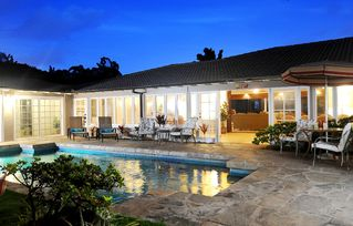 Kailua house photo - Swimming pool at night