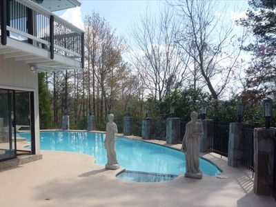 Sandy Springs house rental - Private pool with lots of sun and outdoor area for dining and entertaining