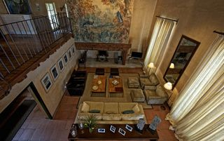 Zamora Province villa photo - The Hunting Lodge: Lounge with TV and fireplace. General view.