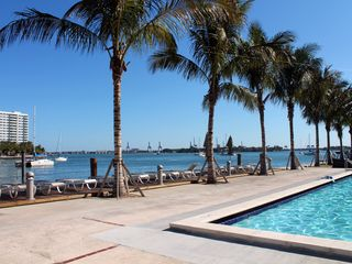 Pool Deck View - Miami Beach apartment vacation rental photo
