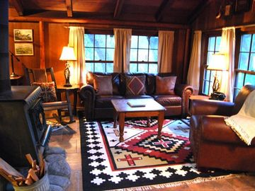 Carmel Valley cabin rental - Cozy living / dinette area known as 'The Coop'