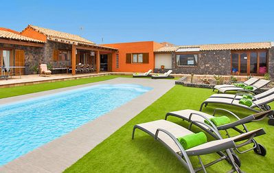 Beautiful villa with private pool and views of the volcanic landscape of Fuerteventura