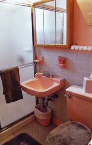 Extra clean newly renovated bath with seated shower!!!