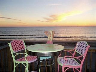 Tybee Island condo photo - Oceanfront Deck with your very own Mermaid
