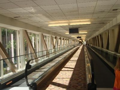 Las Vegas studio rental - Climate controlled walkway with moving sidewalks between Signature Towers & MGM