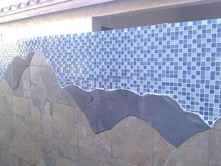 Custom mosaic on fence wall. - Phoenix house vacation rental photo