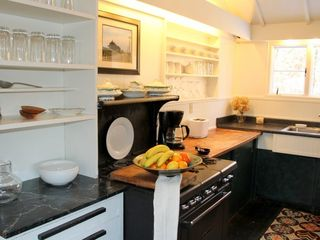 Truro house photo - Galley Kitchen with Garland Stove