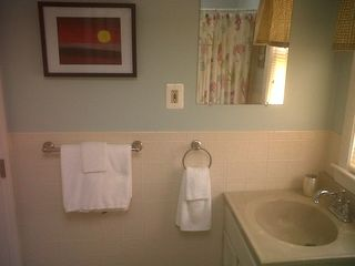 Immaculate bathroom, complete with towels, shampoo, soap, etc. - Buttermilk Bay cottage vacation rental photo