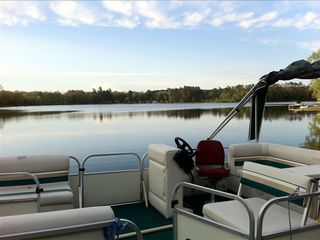 Take a ride around the lake on the pontoon. Enjoy 'floating breakfast' lakeside