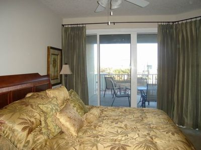 Ariel Dunes condo rental - The Master Bedroom has access to the balcony
