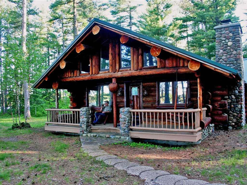 Superior Log Hideaway Secluded Log Homeaway Isabella