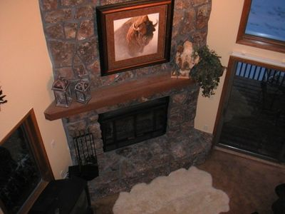 Two Story Wood Burning Fireplace